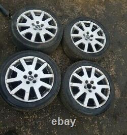 Skoda Fabia Mk1 Vrs 16 Complete Set Alloy Wheels & Tyres 215/45r16
