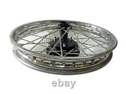 Stainless Steel 19 Complete Wheel Rim Pair BSA Norton Enfield