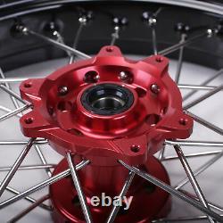 Supermoto Complete Wheel Rims 173.5 4.25 For Honda CR125 250R CRF250 450R 14-18