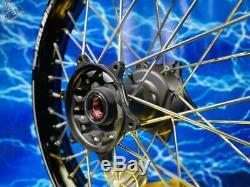 Suzuki Complete Rear Wheel Excel Black Rim OEM A60 Billet Hub Assembly 125-450