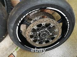 Suzuki GSXR 1000 K7 K8 Wheels (Pair) Used complete with discs