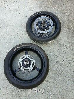 Suzuki GSXR 600 750 K6 K7 K8 K9 LO Complete Set Wheels Rims & Discs 2006 2007