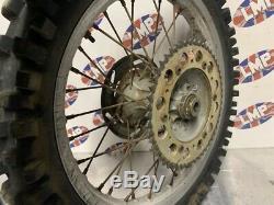 Suzuki Rm 125 1998 Rear Wheel Complete Hub Rim Tyre #2239