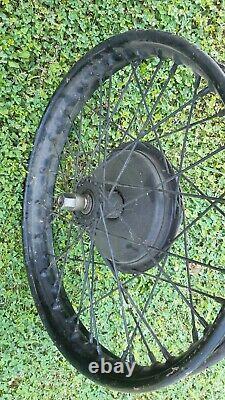 Triumph 3hw front wheel complete with drum brake
