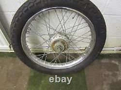 Triumph Trident T150 Front Wheel Complete With Dunlop Tt100