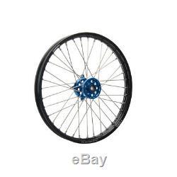 Tusk Complete Wheel Front 21x1.60 Black Rim/Blue Hub KX125 KX250 KX250F KX450F