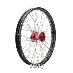 Tusk Complete Wheel Front 21x1.60 Black Rim/Red Hub YZ125 YZ250 YZ250F YZ450F