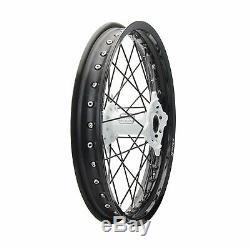 Tusk Impact Complete Front/Rear Wheel Kit 1.60 x 21 / 2.15 x 19 Black Rim/Black