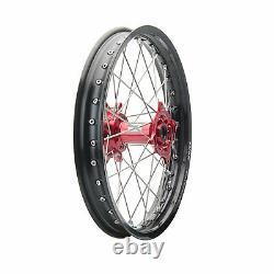 Tusk Impact Complete Front/Rear Wheel Kit 1.60 x 21 / 2.15 x 19 Black Rim/Silver