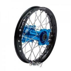 Tusk Impact Complete Wheel Rear 14 x 1.60 Black Rim/Silver Spoke/Blue Hub KAWA