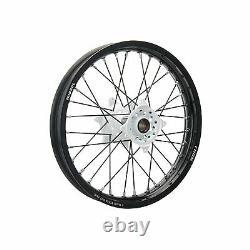 Tusk Impact Complete Wheel Rear 18 x 2.15 Black Rim/Black Spoke/White Hub