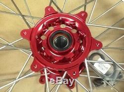 Tusk Impact Complete Wheel Rear 19 x 2.15 Black Rim Red Hub YAMAHA WR YZ YZF