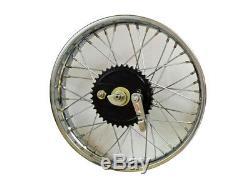 Vintage 19 Rear Wheel Rim Complete With Spoke Half Width Hub BSA Norton Enfield