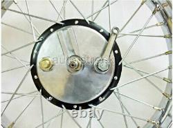 Vintage 19 Wheel Rim Complete With Spokes Half & Width Hub BSA Norton Enfield