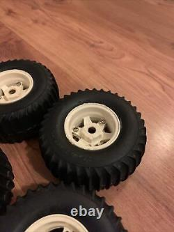 Vintage Tamiya Wild Willy M38 Wheels And Tires/tyres, rims And Inserts-complete