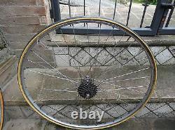 Vintage complete rear wheel Campagnolo Gran Sport 1955/1959 Nisi rim