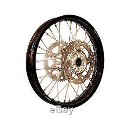 Warp 9 Complete Wheel Kit Rear 19 x 2.15 Black Rim/Silver Hub/Silver Spokes