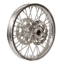 Warp 9 Complete Wheel Kit Rear 19 x 2.15 Silver Rim/Silver Hub/Silver
