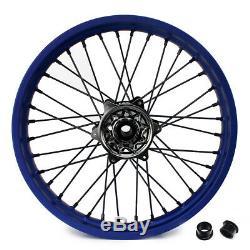 YZ250F YZ450F YZF 250 YZ-F 450 09-13 21 19 Complete Wheel Blue Rim Black Hub