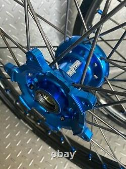 Yamaha Motocross Wheels Rims Black Blue Complete 19/21 YZ250F YZ450F YZ 125 250