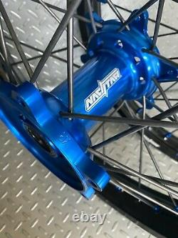 Yamaha Motocross Wheels Rims Black Blue Complete 19/21 YZ250F YZ450F YZ125 YZ250