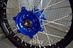 Yamaha WR250F WR450F Motocross Wheels Rims Black Blue Complete 18/21 YZ450F 250F