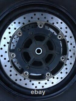 Yamaha XVS1300 Front Wheel, 16 x 3, black Complete Midnight Star, 2013 Used