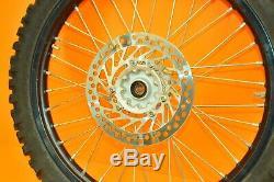00-01 2001 Cr125 Cr 125 Excel Arrière Avant Noir Roue Ensemble Complet Rim Hub Tire