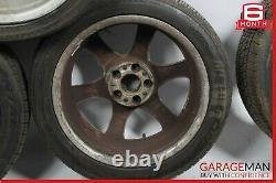 01-07 Mercedes W203 C230 Complete Front & Rear Wheel Tire Rim Set R17 Oem