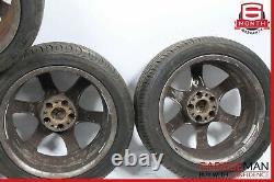 01-07 Mercedes W203 C230 Jeu De Jantes De Pneus De 4 Pc 8,5x17h2 Et34 R17 Chrome Oem