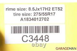 02-05 Mercedes W163 Ml320 Ml500 Jeu Complet De Jantes 8.5jx17h2 Et52 Oem