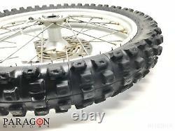 02#6 96-08 Honda Cr80 Cr85 Cr 80 85 Complete Front Wheel Rim Tire Hub 17