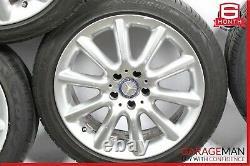 03-08 Mercedes R230 Sl500 Jeu Complet De Jantes De Pneus À Roues Décalées De 4 R18 9,5x8.5