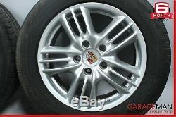 03-10 Porsche Cayenne Roue Avant Et Arrière Complet Des Pneus De Jantes 8jx18h2 Et57 Oem