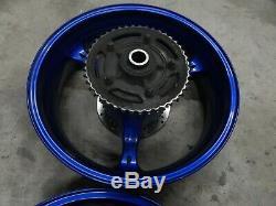 06 07 600 750 Gsxr Suzuki Oem Bleu Roues Avant Et Arrière Complètent Jantes