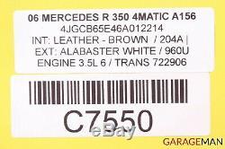 06-09 Mercedes W251 R350 Complète Des Pneus Des Roues Avant Et Arrière De Jantes 8jx18h2 Et67
