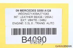 07-13 Mercedes W221 S550 Avant Et Arrière Droit Et Gauche Roue De Jantes 18x8jj A128 Oem