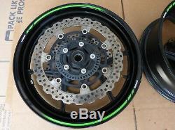 13 14 15 Kawi Zx6 Zx6r Roues Jantes Rotors Abs Paire Complète Paire Oem