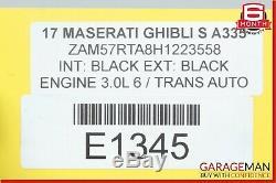 14-17 Maserati Ghibli Complète Des Roues Avant Et Arrière Des Pneus De Jantes 8.5 / 10jx19h2 Oem
