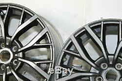 15-20 Subaru Wrx Sti 5x114.3 19x8.5 +55 Oem Jantes Jeu De 4 Complet Gris
