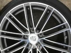 17-19 Porsche 991 Turbo S Oem Roues Jantes Design Pneus Ensemble Complet 20