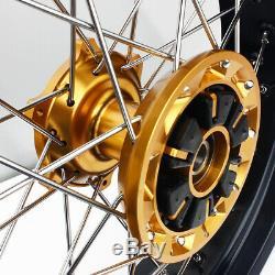 17 Complète De Moyeu De Roue De Jante Disques Cush Entraînement Pour Suzuki Drz 400 Sm Drz400sm 05-17