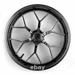 17 Complete Front Wheel Rim Black Fits Honda Cbr600rr 2013-2017 Noir