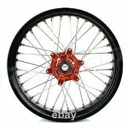 17'' Supermoto Complete Wheels Pour Ktm Sx Sx-f 125-450 13-17 Exc 530 Exc-f 450