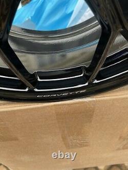 19/20 2021 Corvette C8 3lt Oem Wheels Gm 14011 14012 Black Rims Ensemble Complet