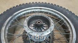 1974 Yamaha Dt250 Dt 250 Enduro Arrière Jantes Hub Dunlop Proces Complète