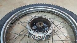 1974 Yamaha Dt250 Dt 250 Enduro Avant Jantes Hub Dunlop Proces Complète