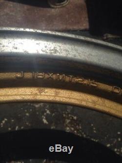 1985 Suzuki Gs550 Ensemble De Jantes Roues Avant Arrière Or Avant Complet Gs 550e Oem Enkei
