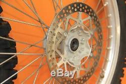 1998 96-98 Yz125 Yz250 Oem Avant Roue Arrière Set Rim Hub Complet Spokes Tire