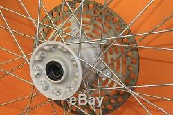 1999 96-00 Rm125 Rm250 De Moyeu De Roue Arrière Avant Oem Set Rim Spokes Pneus Complet